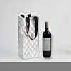 Custom printed log bag double Bottle Wine tote insulated red wine bag