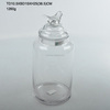 High quality fashioned transparent glass storage jar with bird shaped glass lid