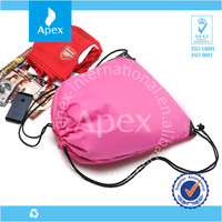 Promotional nylon drawstring bag shoes