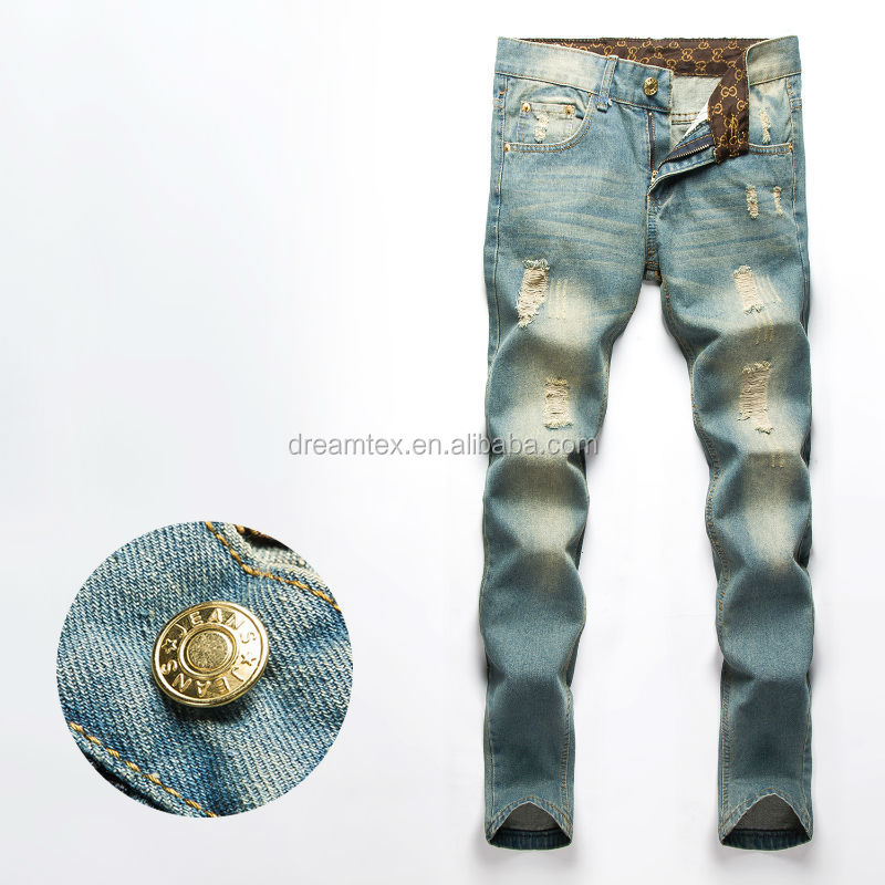 Aliexpress hot sales high quality man denim skinny jean