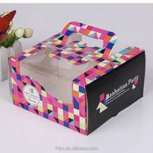 China factory personalised decorative custom cupcakes perth wholesale chocolate cake boxes with window