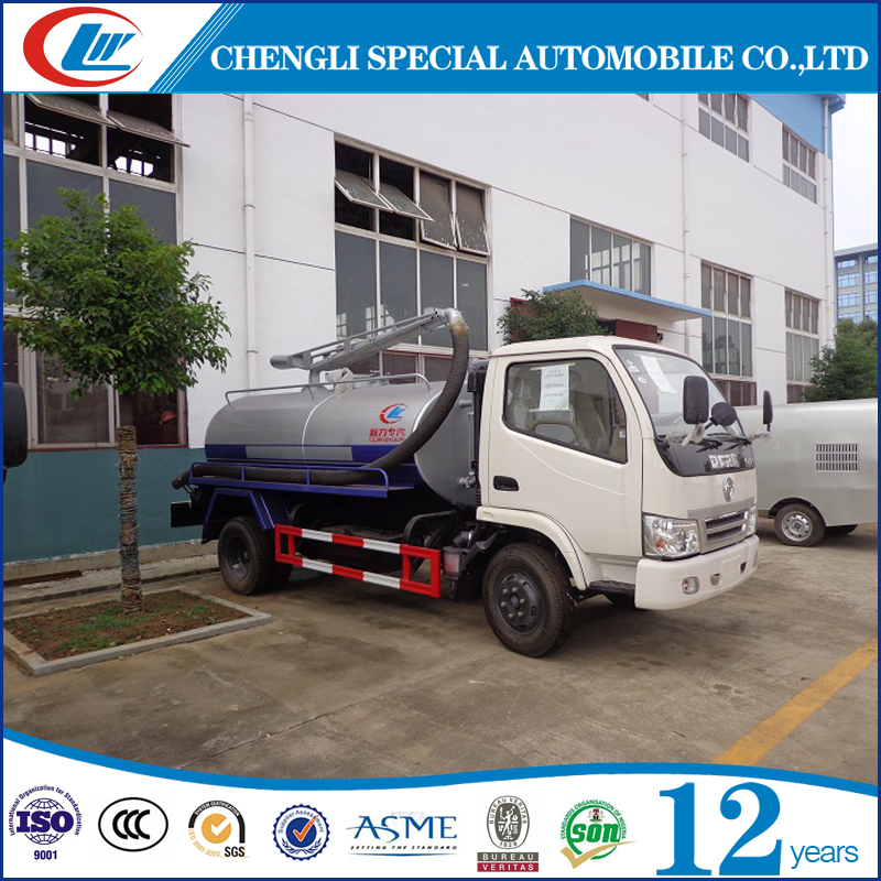 2016 hot sale used sewage suction truck fecal suction truck Dongfeng sewer flushing vehicle