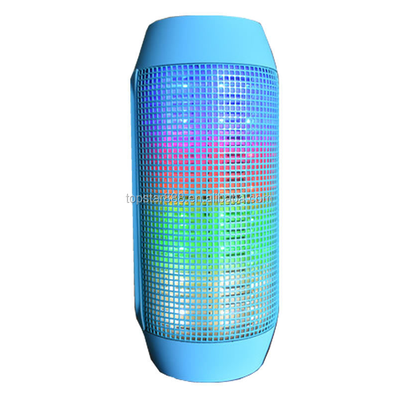 2017 hot Portable Wireless BT Speaker With led light clear loud sound pulse out door music waterproof speaker BT