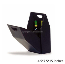 Black pu leather wine holder for 1 bottle wine box D06-20150907