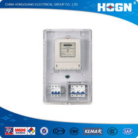 HOGN Nice Design Transparent Single Phase Power Meter Box