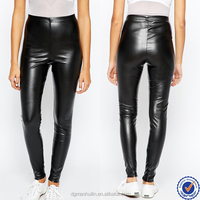 guangzhou leather pants supplier cheap womens leather pants slim sexy black leather pants