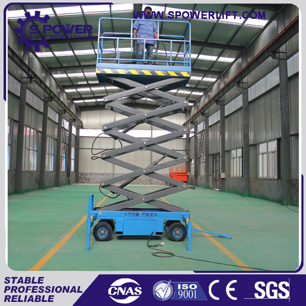 House roof decoration aerial scissor elevated work platforms