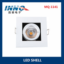 Square Recessed Light Covers Aluminium Light Housing