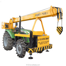 Hydraulic 4 ton Tractor Mounted Crane with Telescopic Boom