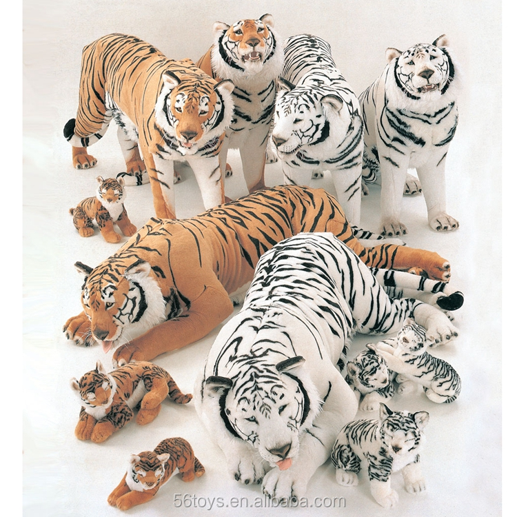 Vividly luxury plush Siberian Tiger Toy from China golden supplier