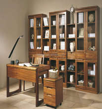 Classic Furniture New Exquiste Solid Wood Bookcases With Study Table