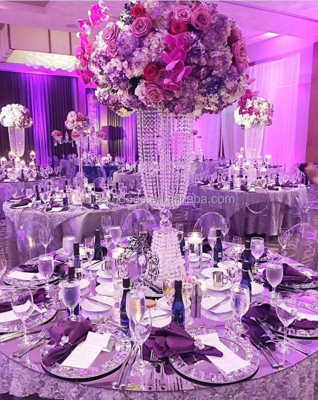 LDJ309 popular selling crystal table decorations centerpieces wedding