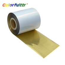 Width 30mm-110mm length 70-300m matte shiny gold thermal transfer ribbons wash resin for fabrics and satin label printing