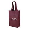 Wholesale Customized Reusable Eco Shopping 2/two Bottle Wine Tote