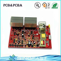 hot sale radiator printed circuit board of 1.60mm red solder mask manufactuer