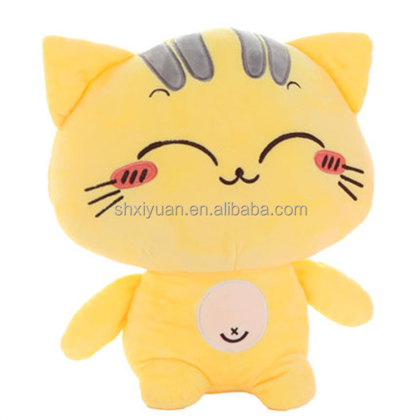 China Promotional Plush Cat Toy Cute Big Face Cat for Kids Gift