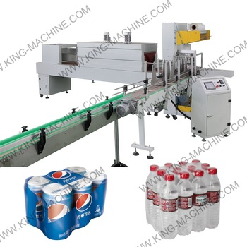 Automatic Pure Water Bottle / Bucket / Barrel Heat Shrink Packing Equipment KING MACHINE