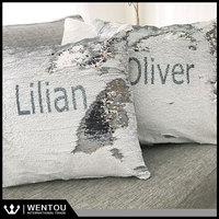 Gold Silver Secret Message Sequin Reveal Cushion