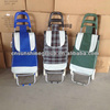 Polyester fabric folding shopping trolley with handle / folding shopping carts