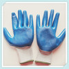 Latex Coated Gloves, Safety Rubber Gloves, Blue Rubber Coated Industrial Workman Safety Gloves