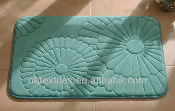 Anti-slip memory foam bathmat