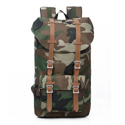 Camouflage Hiking Large volume Teens Canvas Nylon Laptop Backpack