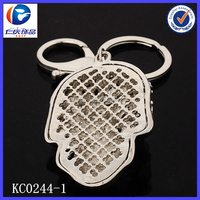 New Design Different kinds of precious stones Skull head 3D printing metal keychains