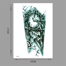 SY-B013 Clock Arm Large Temporary Tattoos Mechanical Patten Fake Tattoo Stickers 21*15cm Waterproof Men Art Tattoos Stickers