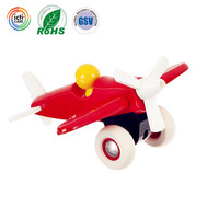china ICTI certified factory plastic Push & Pull Toy Airplane for baby
