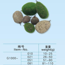 Wholesale carp fishing stone sinker