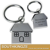 House Shape Cute Metal Keyring/Keychain for Backpack Decoration/Gift for House Warming