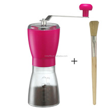 Home coffee mill/manual coffee grinder/large coffee grinder with brush