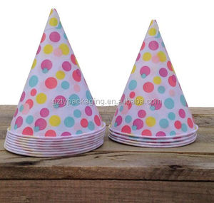 Custom Colours Dots Ice Cream Cone Shape Paper Cups