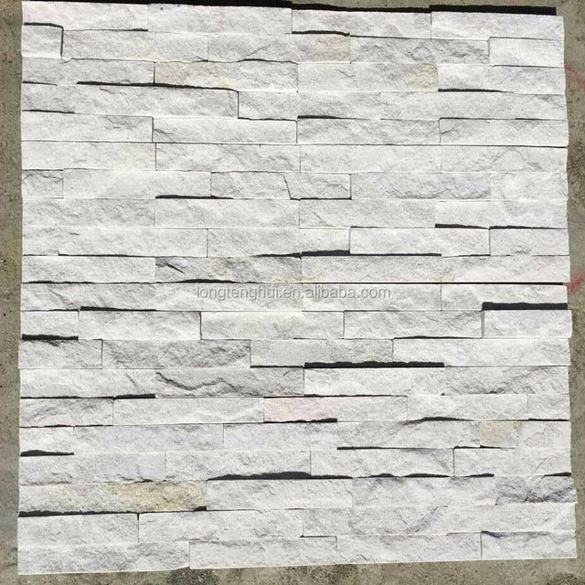 White Mica Schist Natural stone wall panel cladding