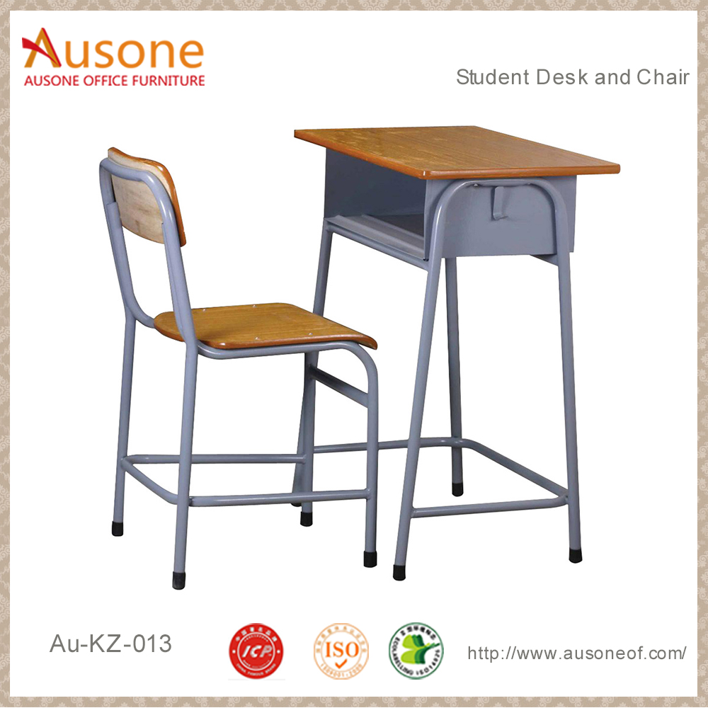 Wholesale school furniture desk and chair/ Student desk and chair/ Single classroom furniture