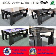 HALF BILLIARDS (12 years Manufacturer & High Trade Assurance ) 7ft Solid Wood Slate Pool Dining Table