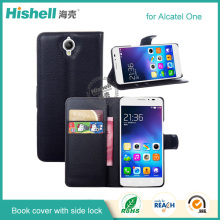 cell phone PU leather case for Alcatel one touch