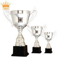 Plated silver trophy cup, soccer trophy cup metal