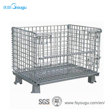 Industrial supermarket logistic cago equipment galvanized wire mesh gabion /metal storage cabinet