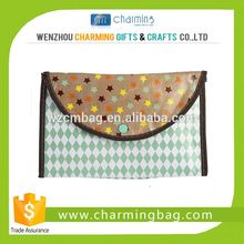 Tote Cosmetic Bag with Plastic Button