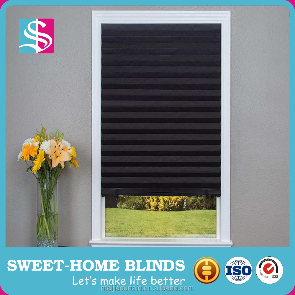 Meijia Quick Fix Blackout Shade Temporary pleated paper blinds