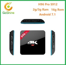 goshine 2017 newest S912 Android 7.1 Octa core H.265,4K full loading car racing games free download Kodi box H96 Pro Plus 3GB 32