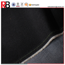 Cheap light black jean denim machine textile fabric red black