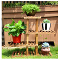 hot selling outdoor wooden flower rack