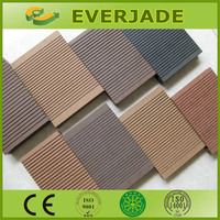 Cheapest timber grain wood plastic composite flooring hollow decking boards