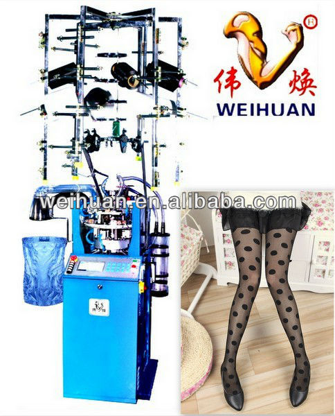 WH-E7 full computerized jacquard silk stocking/pantyhose circular socks knitting machine(4 inch)