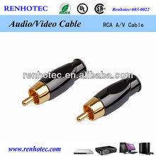 Manufacturer Gold plated rca connector copper rca plug rca av cable plug connector