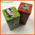 Custom tinplate cookie box/square tin can