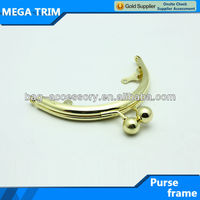 No.9195 Shiny gold color small kiss lock clasp for coin bag