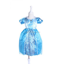 Newly Cinderella Dresses for Girls Princess Cinderella Costume Kids Summer Dress Clothes Size 3-7YCosplay